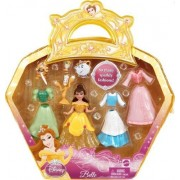 Disney Precious Princess Belle Sparkly Fashions Doll Set by Mattel (English Manual)