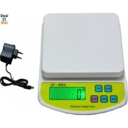 Stealodeal Digital Kitchen 10kg With Adapter Weighing Scale(White)