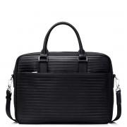 """Luxusní pánská kožená business taška 13"""" Sammons černá"""