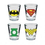 Copos de Tequila Shot Super Heróis Logo DC Comics