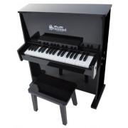 Schoenhut - Pianoforte a muro giocattolo, 37 tasti, colore: nero
