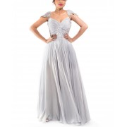 Grey Rouching Gown