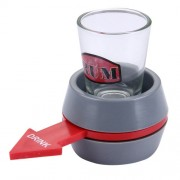 Spin The Shot Novelty Drinking Game Turntable Toy Playing Spin Bottle Props with Shot Glass for Bar KTV Home Party