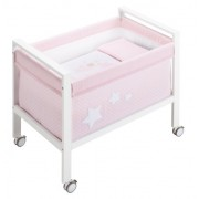 Petit Praia Moon Crib (Small, Baby Rosa)