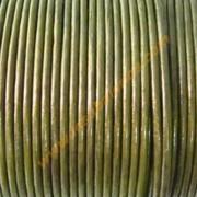 Cordon de cuero verde oscuro ( precio por 50 cm )