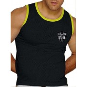 Good Boy Gone Bad Manny Muscle Tank Top T Shirt Black/Yellow GBTTCL605
