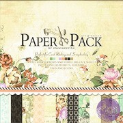 """AsianHobbyCrafts Designer Paper Pack by EnoGreeting : 12"""" x12"""" : (PS010) : 24 patterned papers and 3 Die Cut Sheets : Theme – Romantic"""