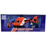 United States Coast Guard Helicopter Play Set