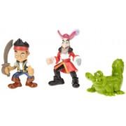 Mattel W5262 Fisher-Price Disney Jake y los piratas de Nunca Jamás - Figuras de Jake, Capitán Garfio y Cocodrilo Tic Tac (3 piezas)