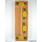 Numero civico ceramica con fiore giallo nfg15