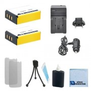 2 NP-85 High-Capacity Batteries Car/Home Charger for Fujifilm FinePix SL1000 SL305 SL300 SL280 SL260 SL240 & More. Camcorder and an eCostConnection Complete Starter Kit