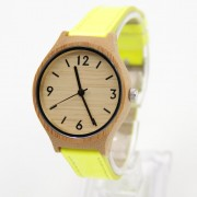 2015 Hot Sells Women Watch Bamboo Wooden 2035 Miyota Quartz No Waterproof Genuine Cowwide Leather With Fashion Watches Gift Box