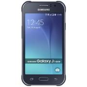 "Telefon Mobil Samsung J110 Ace, Procesor Dual-Core 1.3GHz, Super AMOLED capacitive touchscreen 4.3"", 512GB RAM, 4GB Flash, 5MP, Wi-Fi, 3G, Android (Negru) + Cartela SIM Orange PrePay, 6 euro credit, 4 GB internet 4G, 2,000 minute nationale si internationa"