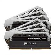 Corsair CMD64GX4M8A2400C14 Dominator Platinum Memoria per Desktop di Livello Enthusiast 64 GB (8x8 GB), DDR4, 2400 MHz, CL14, con Supporto XMP 2.0, Nero
