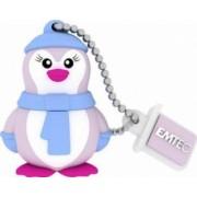 USB Flash Drive Emtec Lady Penguin 8GB Albastru