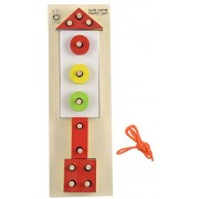 Skillofun Wooden Shape Sorting Board - Traffic Light, Multi Color