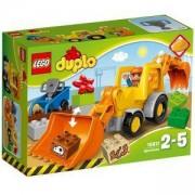 Конструктор ЛЕГО ДУПЛО - Багер със задна лопата, LEGO DUPLO, 10811