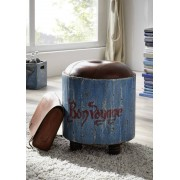 Massivmoebel24 PAINTED Hocker #01 Mango Vintage lackiert