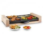 Klarstein Lumberjack, 2300 W, elektromos grillsütő, asztali grillsütő, rusztikus, fa