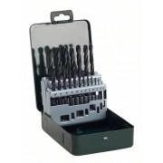 Bosch 2607019435 Set Misto 19 Punte Metallo, HSS-R, 1-10 mm