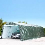 Profizelt24 Zeltgarage 3,6x7,7m PE dunkelgrün Garagenzelt, Carport, Weidezelt, Unterstand