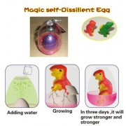 Magic self-Dissilient Dinosaur Egg (1). Color: PURPLE, with Hatchery Dome Kit Ready to Hatch a New B