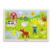 Viga drvene puzzle 24 kom farma