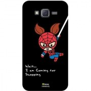 Hamee Original Marvel Designer Cover Slim Fit Plastic Hard Back Case for Samsung Galaxy On5 / On 5 (kawaii spider woman going for shopping black cover)