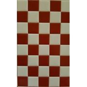 Decor 3D pentru perete cu model de placi de faianta in sah