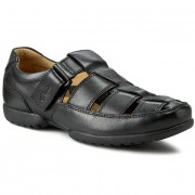 Обувки CLARKS - Recline Open 203496428 Black Leather