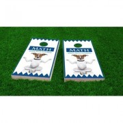 Custom Cornhole Boards Math Dog Light Weight Cornhole Game Set CCB42-AW / CCB42-C Bag Fill: All Weather Plastic Resin