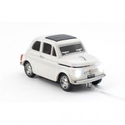 Myš CLICK CAR MOUSE Fiat 500 Oldtimer White (USB Wired)