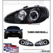 Mazda MX-3 přední čiré Angel Eyes projektory ČERNÉ