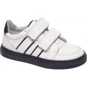 Premium - Witte leer sneaker klittenband