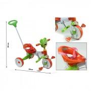Odg - triciclo con manubrio poppy giallo/verde