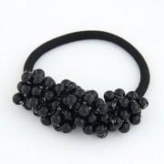 BAGISIMO Gumička s černými perlami