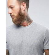 ASOS T-Shirt In Textured Waffle Fabric In Grey Marl - Grey