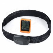 "BIKEVEE BKV-9100H Multi-Functional 1.7"" Wireless Bike Computer w/ Heart Rate Function - Orange"