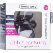 Anello fallico vibrante Shots Toys Rabbit Cockring Nero