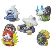 Set of 5: Yo-Kai Watch Medal Moments Wave 1 - Jibanyan Whisper Komasan Noko & Tattletell