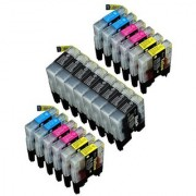 20 Pack Compatible LC-71 LC-75 8 Black 4 Cyan 4 Magenta 4 Yellow for use with MFC-J280W MFC-J425W MFC-J430W MFC-J435W MFC-J5910DW MFC-J625DW MFC-J6510DW MFC-J6710DW MFC-J6910DW MFC-J825DW MFC-J835DW. Ink Cartridges for inkjet printers. LC-7