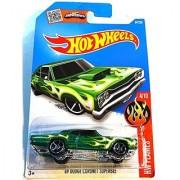 Hot Wheels 2016 HW Flames '69 Dodge Coronet Superbee [Green] Die-Cast Vehicle #94/250