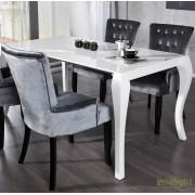Masa dining extensibila, eleganta alba Barocco 170-230cm A-20053 VC
