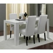 Basika Table de repas pisa laquee blanc