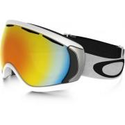 Oakley Canopy Matt White/Fire iridium Skibriller (Mattvit)