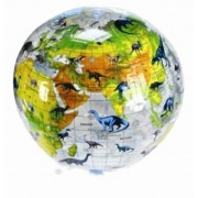 Opblaasbare wereldbol Dino Transparant | Harlekijn