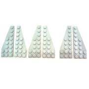 LEGO Bricks 50304 - 50305 Star Wars - Plancha angular para alas (3 pares, 8 x 3 pivotes), color gris claro