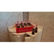 Naveta din lemn cu 12 sticlute Soda Pop