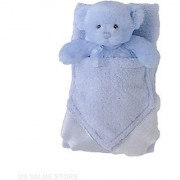 Baby Boy Blanket and Rattle My First Teddy Buddyluvs - Blue