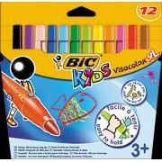 Markere pt copii,12b/s,XL,Bic Visacolor